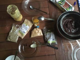 prêts pour l' atelier chocolat